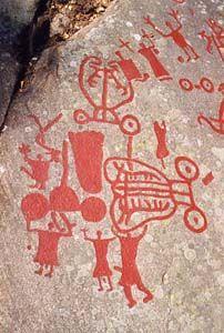 Sites rupestre de Tanum (Suede) Ancient Aliens, Ancient Art, Paleolithic Art, Art Rupestre, Cave Drawings, Art Antique, Prop Design, Rock Art, Traditional Art