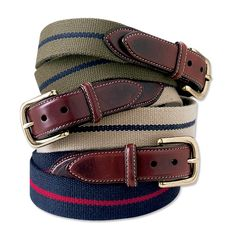 Just found this Mens Fabric and Leather Belt - Cotton and Leather Surcingle Belt -- Orvis on Orvis.com!