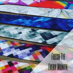 Fresh Tie Every Month! Every Month, Neck Ties, Bowties, Different Patterns, Pattern Making, Your Style, Fashion Accessories, Colours, Fresh