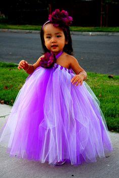 Purple and Lavender Tutu Dress. Wedding. Birthday. Flower Girl Dress