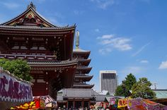 Hozo gate and the pagoda at Sensoji