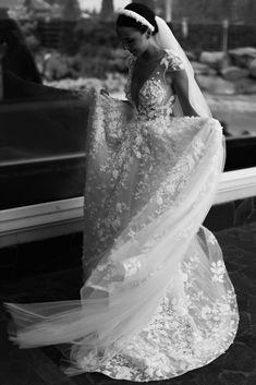 Berta Bridal, Dress Vestidos, Stunning Wedding Dresses, Silk Chiffon, Dream Dress, Female Bodies, One Shoulder Wedding Dress, Tulle, Gowns