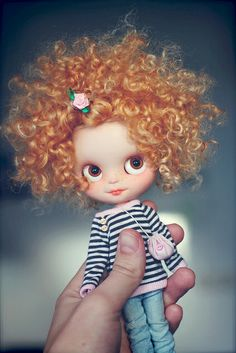 blythe red curl hair