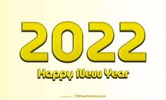 Free Happy New Year 2022 Gold Background Vector