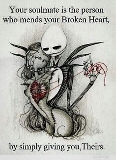 Soulmates Quote  -  Jack and Sally