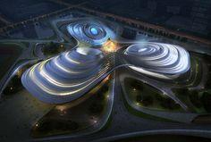 Jingzhou Sports Center, China, future architecture, futuristic building, China National Sports Group, DUO, futuristic architecture, future building | FuturisticNews.com