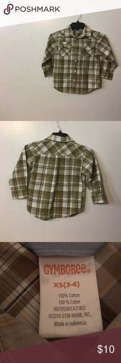 Boy's Shirt Boy's Plaid Shirt Button Down Gymboree Shirts & Tops Button Down Shirts