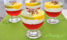 Mascarpone z musem owocowym Kiwi, Panna Cotta, Pudding, Ethnic Recipes, Food, Cakes, Mascarpone, Polish Desserts, Recipies