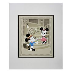 Mickey and Minnie Mouse ''Courting Minnie'' Deluxe Print by Jerrod Maruyama Disney Dolls, Disney Mickey, Disney Home, Disney Art, My Sweet Valentine, Poster Prints, Art Prints, Mickey And Friends, Disney Merchandise