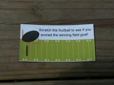 20 Football Scratch Off Tickets by msmemories101 on Etsy