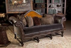 We have an amazing collection of sofas for your rustic home. Vist our site to find out more. | www.brumbaughs.com | Fort Worth, TX