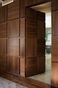 Hidden door is an amenity that makes a house more fun. There are many ways to create such door. Here, we listed hidden door ideas to help you do. Wooden Door Design, Main Door Design, Wooden Doors, Room Door Design, Wall Design, Wooden Windows, Wooden Partition Design, Modern Wood Doors, Flush Door Design