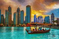 Dubai Fountain Abra - null