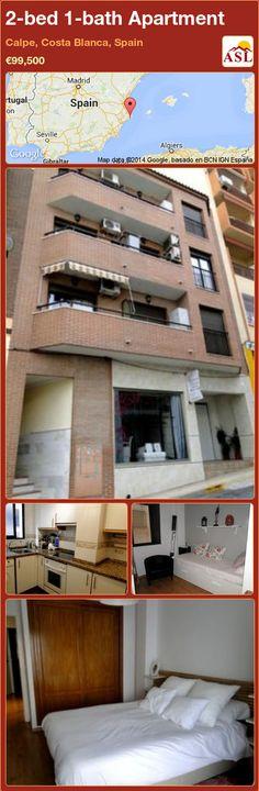 2-bed 1-bath Apartment in Calpe, Costa Blanca, Spain ►€99,500 #PropertyForSaleInSpain