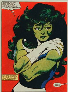 """She-Hulk by John Byrne - """"Her real name is Jennifer Walters, though the world at large as lately come to know her by another name..."""""""