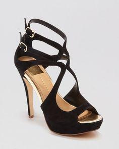 Dv Dolce Vita Open Toe Platform Evening Sandals - Brielle High Heel