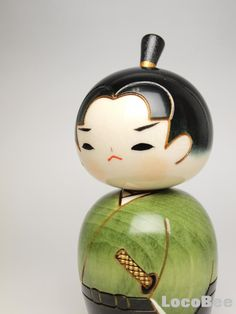 japanese stickers kokeshi doll | Details about Japanese Kokeshi Doll by Usaburo - Young Samurai -