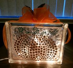 Check out this item in my Etsy shop https://www.etsy.com/listing/197906055/pumpkin-halloween-lighted-glass-block