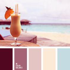 бледный малиновый, бордовый, вишневый, голубой, желтый, летние цвета, малиновый, нежный голубой, оттенки вишневого, оттенки малинового, оттенки розового, песочный, сочетание цветов для лета, цвет гнилой вишни, цвет песка.
