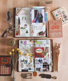 Week 51。That 2nd last week of year 2016, together with @callytan's TN   #midoritravelersnotebook#diary#journal#midori#travelersfactory#文具#手帳#journaling#planneraddict