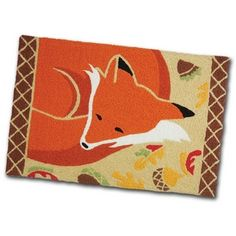 Sleeping Fox Washable Accent Rug Rugats Rugs By Jellybean Jb Lcw009 708793717296 At Horse And Hound Gallery