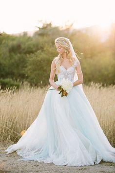 Glamorous ballgown wedding dress idea; photo: Retrospect Images