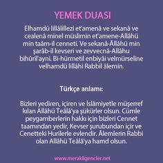 yemek duası, dua,