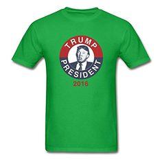 LOGOPOP Mens Donald Pump Tank Top T-Shirt Green Medium - Brought to you by Avarsha.com