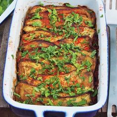 Baked Eggplant with Chickpeas and Green Chilli