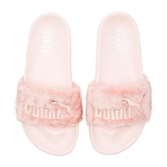 Puma x Rihanna Leadcat Fenty Sandal ($76) ❤ liked on Polyvore featuring shoes, sandals, puma footwear, puma sandals and puma shoes