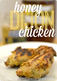 """Need a yummy new chicken recipe that whips up fast? This super-flavorful honey-dijon chicken is another favorite """"cheater"""" freezer recipe--easy, delicious, and practically mess-free, plus freezer and grill friendly. My family gave it a perfect 10!"""