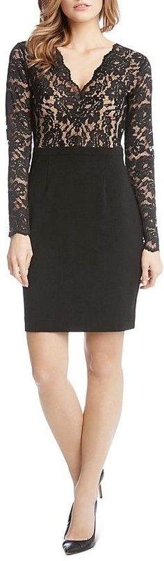 Karen Kane Becca Lace-Bodice Dress