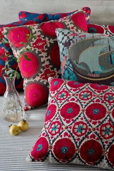 Iam loving these cushions at Good Earth store India
