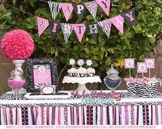 Zebra print party party-ideas