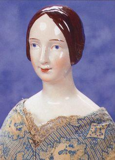 Rare early porcelain doll head.