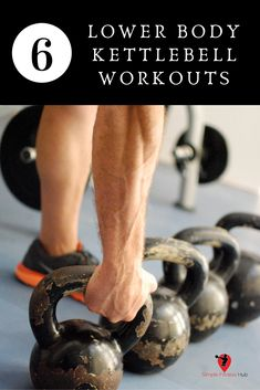 Doing a lower body kettlebell workout will help you burn some major calories and strengthen your muscles. We've listed the best workouts that will get those legs and glutes on fire. #simplefitnesshub #kettlebells #workout #kettlebellworkout