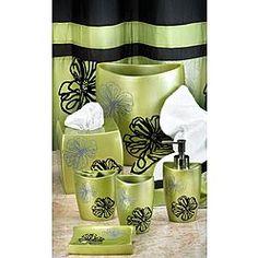 -Popular Bath Products Tonya Bath Accessory Collection - color sage