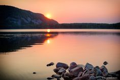 Summer Sunrise - Devil's Lake State Park - www.DevilsLakeWisconsin.com