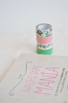 Libro Washi Tape Manía -- I love washiiii