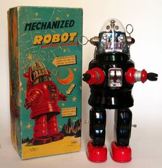 Original 1950's Battery Operated Robby Mechanized Robot