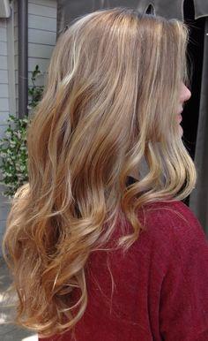 winter- subtle blonde highlights