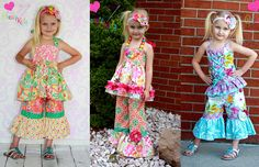 New Rihanna's flower pants and capris, pdf sewing pattern from create kids couture !