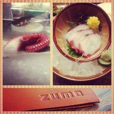 Last night's dinner at Zuma was so ridiculously delicious!!!  #fresh #octopus #sashimi #sushibar #seafood #yum #yummy #nom #nomnom #happiness #delicious #delish #ridic #foodporn #japanese #cuisine #dinner #Zuma #EpicHotel #miami #picstitch - @j_hope_- #webstagram