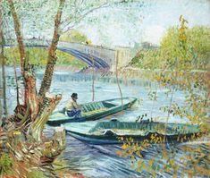 Afbeelding Vincent van Gogh - Angler und Boote