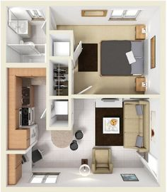 Home Building Design, Building A House, House Design, Small Room Design Bedroom, Apartment Layout, Sweet Home, Villa, Floor Plans, Sims 4