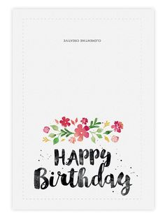 printable birthday card spring blossoms