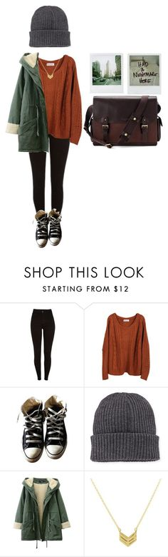 grunge winter by larrytale on Polyvore featuring мода, Converse, Polaroid, Moncler и Aspinal of London