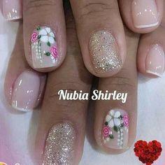 Nails, Beauty, Pretty Nails, Toenails Painted, Lace Nails, Toe Nail Art, Simple Elegant Nails, Finger Nails, Ongles