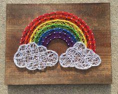 Regenboog String kunst