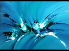 abstract painting, Acrylmalerei, Spachtelmasse Marmormehl - YouTube